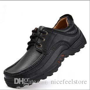 2016 new arrival the world famous brand shoes quality leather leisure shoes comfortable plus size Size:39-47