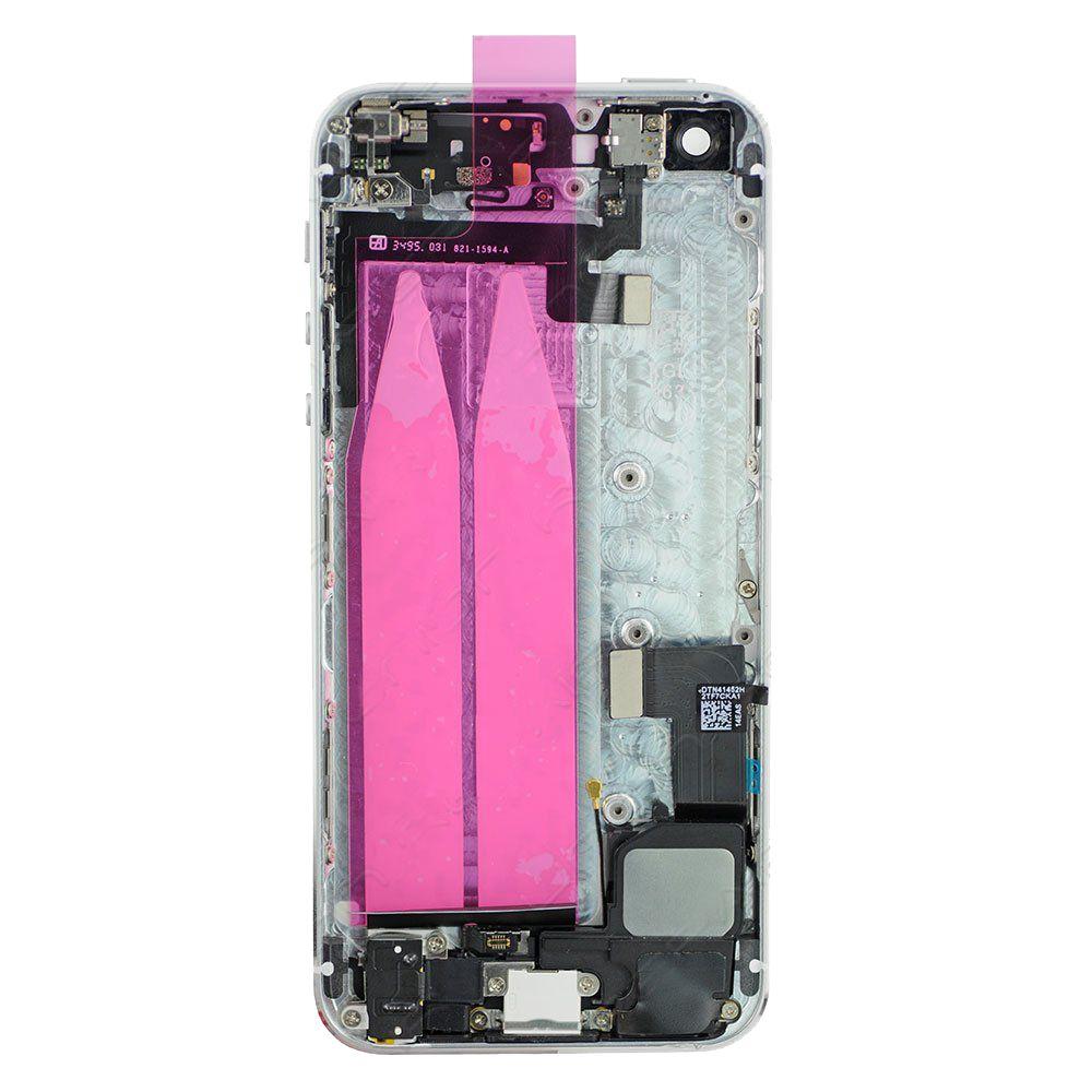 لابل اي فون 5 5g 5s 5c SE الغطاء الخلفي الإسكان الكامل غطاء البطارية مع كابلات أزرار جانبية + أجزاء استبدال أجزاء صغيرة التجمع
