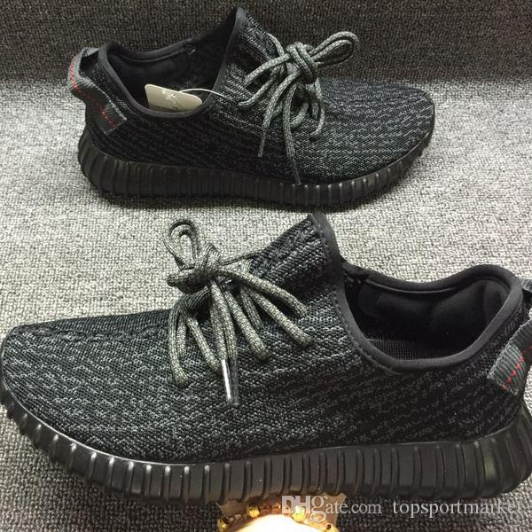 2017 Wholesale 350 V1 Casual Shoes Cheap Men Women Kanye West 350 Walking Shoes High Quality Size US 13 Black Grey clearance big discount with mastercard online cheap sale with credit card how much cheap price oVRQK