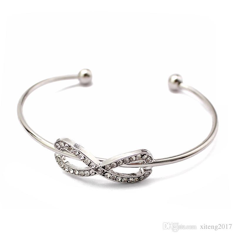 Braccialetti Infinity di nuova moda le donne con bracciale in pietre di cristallo