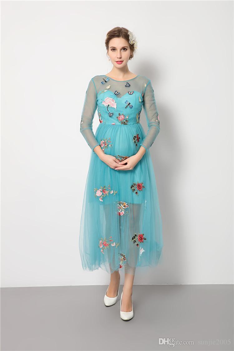 Nouveau style de maternité Photographie Props Robe longue en dentelle blanche pour Pousse de photo Les vêtements pour les femmes enceintes Fancy grossesse