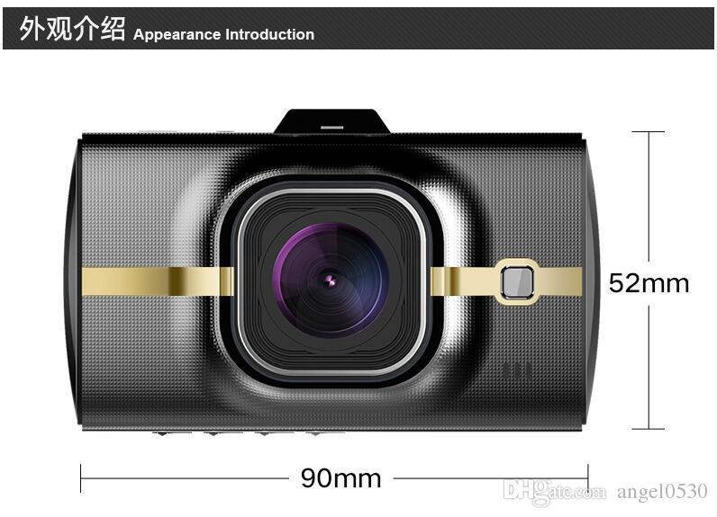 Car dvr Car Black Box car record Novatek96655+Sony322 Lens 3.0 inch 16:9 TFT LCD Screen Full HD 1080P Resolution SOS Recording GPS Functi