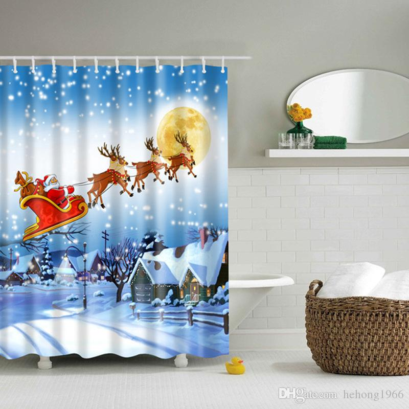 Delicieux Snowman Shower Curtain Multi Function High Quality Waterproof Shading  Various Styles Christmas Bath Curtains Hot Sale 35df J R Curtain Online  With ...