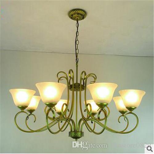 LRE037-CE / UL sertifikası modern demir cam avrupa avizeler culbe ev aydınlatma cam restoran dekor tavan ışık