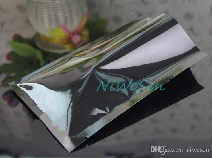 Freies verschiffen 10X15 CM, 200 teile / paket x schwarz aluminisierte mylar flache tasche-heißsiegel plain beutel, Fuchsia aluminiumfolie lebensmittelverpackung tasche