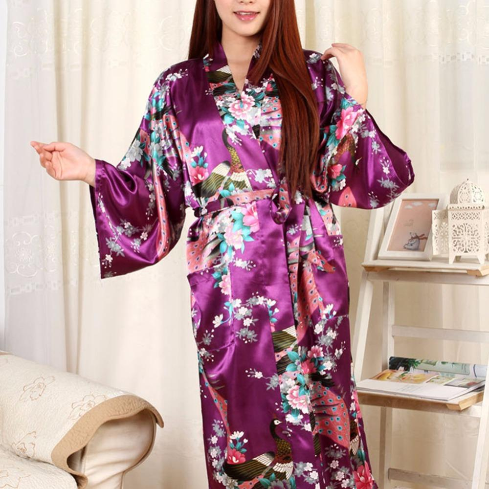 2019 Wholesale Pajamas Bathrobe And Belt Pajama Women Japanese Kimono Satin  Silk Vintage Robe Sexy Robe For Female From Rebecco 70abe40f5