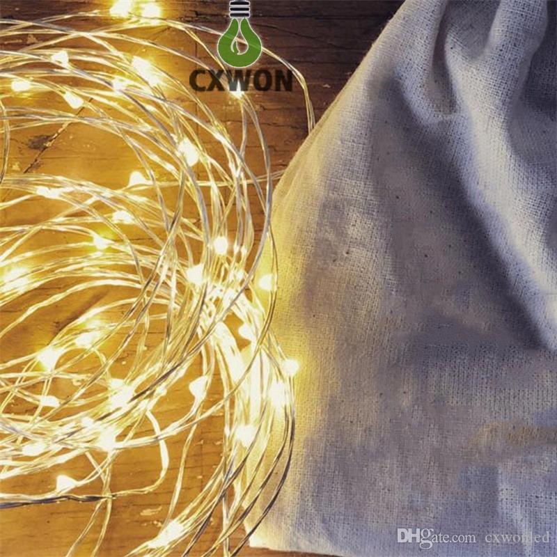 10M 33피트 100는 레드 블루, 따뜻한 화이트 / RGB 주도 12V 전원을 주도 구리 와이어 문자열 크리스마스 축제 웨딩 파티 장식 조명
