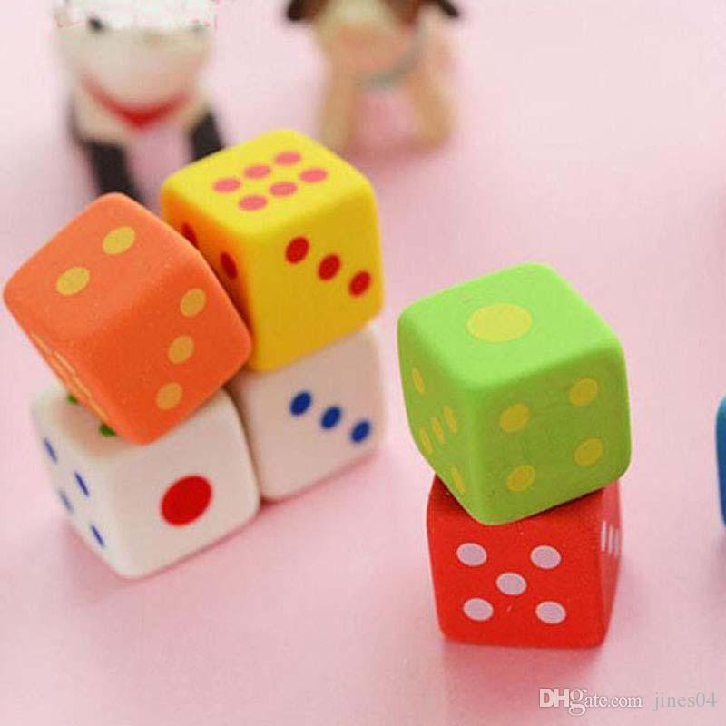 Dice Shape Cute Pencil Eraser Rubber Novelty Kids School Stationery Gift Student Fashion Children Prize