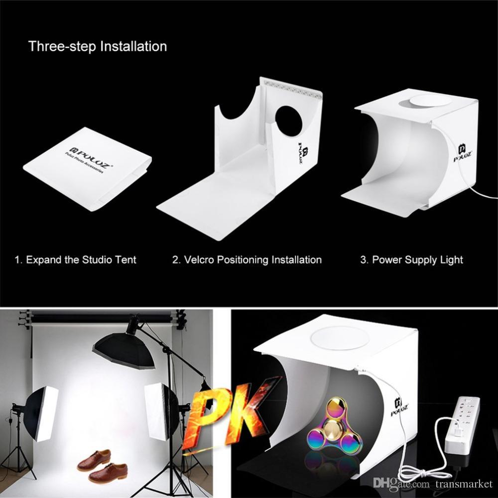 Mini Photo Studio Box Fotografia Backdrop Luz Embutida Caixa De Fotos Pequenos Itens Caixa De Fotografia Acessórios De Estúdio