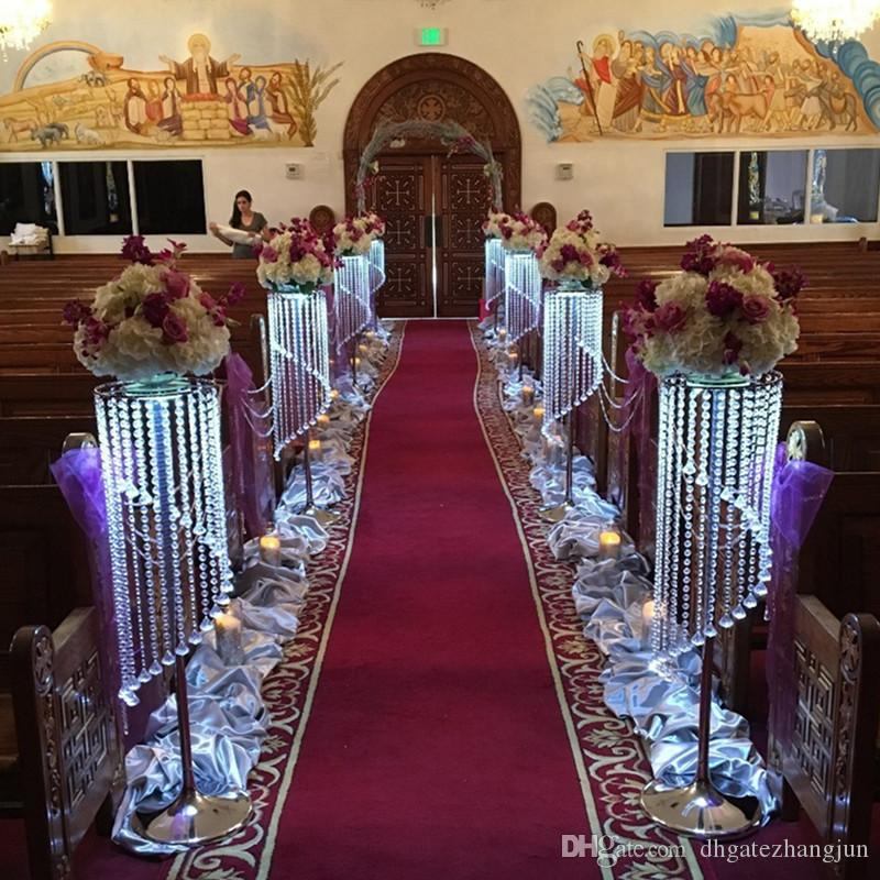 Sparkling Crystal Clear Garland Chandelier Wedding Cake Stand