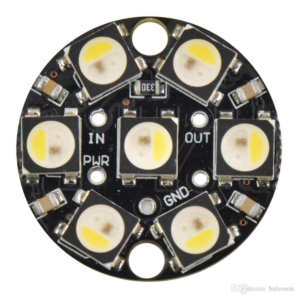 5PCS/LOT LED 5V WS2812B SK6812 7 Bit RGBW Car Chandelier