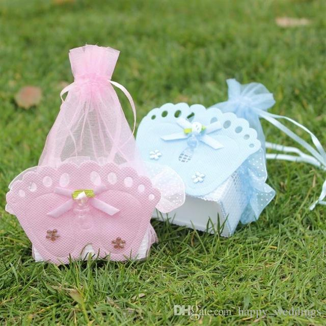 Wedding Decorations Baby Shower Gift Bags Baby Shower Favors Bags With Baby Feet Decorative