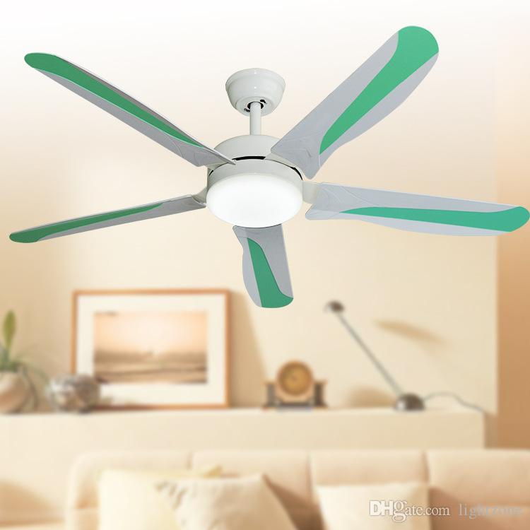 Contemporary Led Ceiling Fans 52 1320 Mm Five Blade Abs Remote Control Indoor Fan Lights 110v 240v Green Lighting In