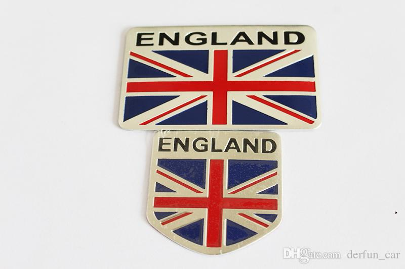 Car Styling Aluminum England National Flag Car Sticker Decal For