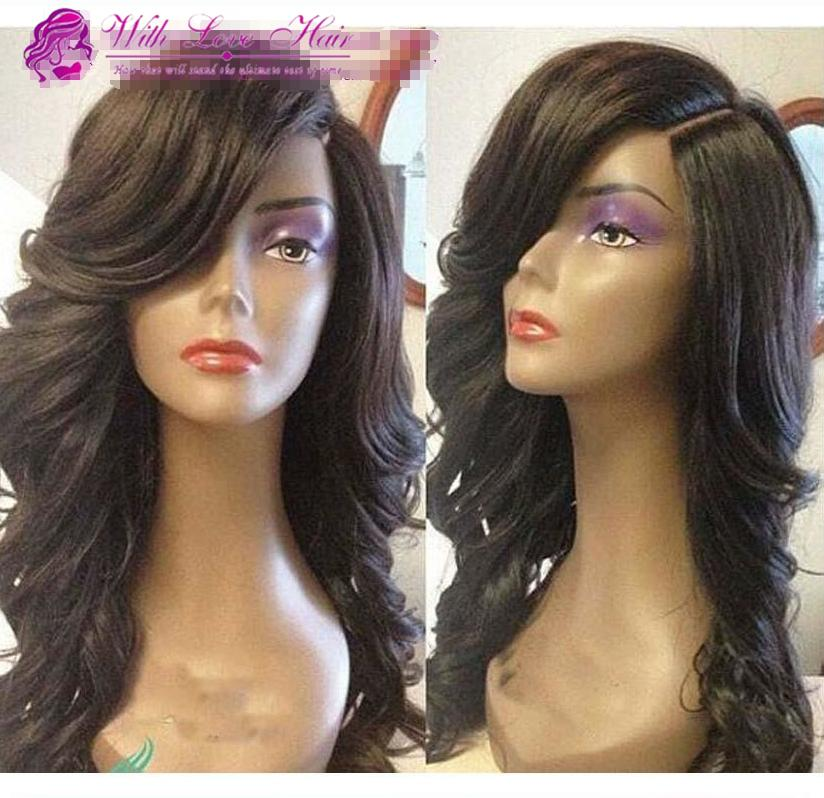 Glueless Full lace wigs Brazilian human hair Lace Front Wig Body Wave with baby hair Bleached Knots For Black Women
