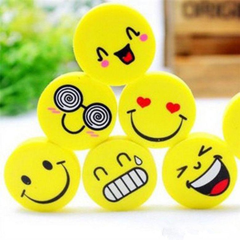 Cartoon niedlichen Radiergummis Emoji Radiergummi Emotion Kawaii Radiergummi Neuheit Schreibwaren Schulbedarf Großhandel Cartoon Radiergummis