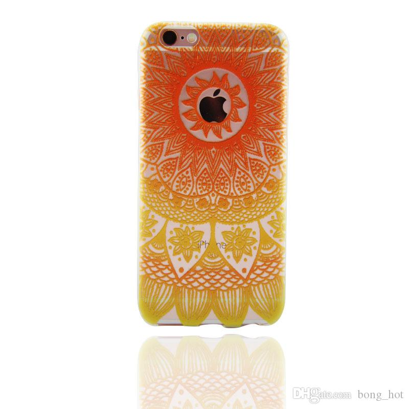 Coloured drawing or pattern is hollow-out mandala fengling following Mobile Cell Phone Cases Cover for iphone4/4s 5/5c/5s 6 iphone 7 7plus