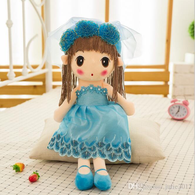 Fashion Princess Wedding Soft Plush Toys Dolls Handmade Plush Doll with Sweet Beauty Dress Best Birthday Gift Baby Girl Toys