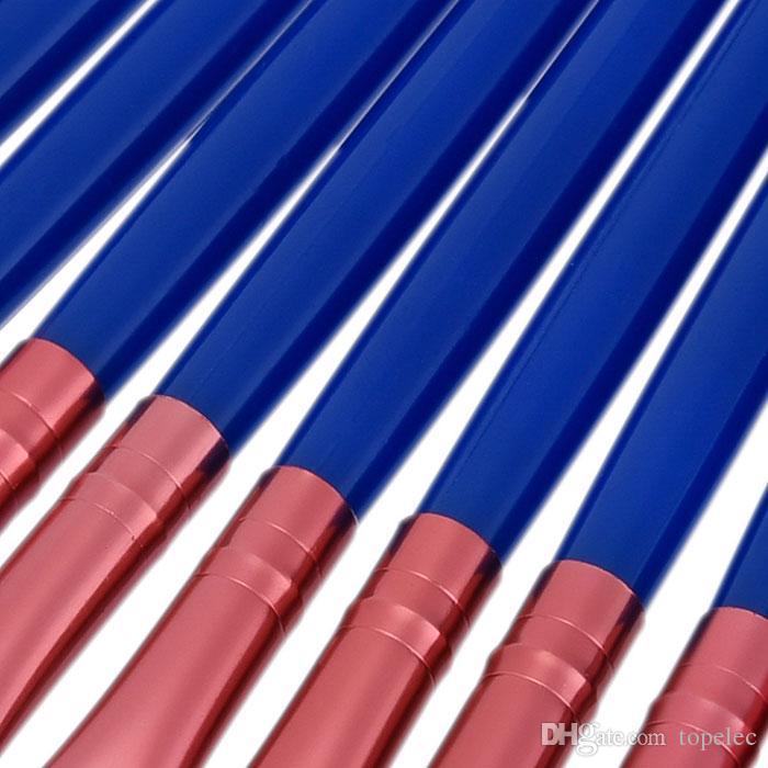 고품질 브러시 블루 핸들 메이크업 브러쉬 메이크업 도구 무료 배송 Dhgate VIP 판매자