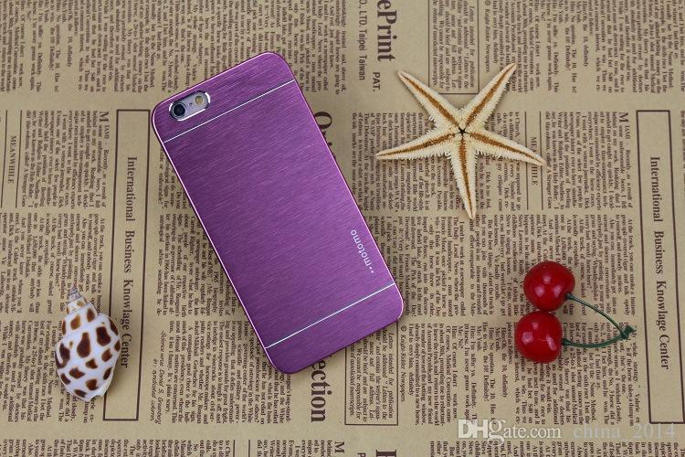 Iphone 7 7plus Case Motomo Case Core Prime Aluminum alloy wire drawing case metal Ultra Thin Hybrid PC case opp package