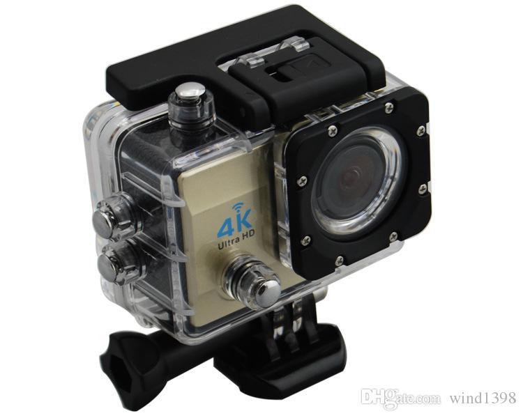 Q3H 4K Ultra HD WIFI camera 30M waterproof 2.0inch LCD display 170 degree 6G fish eye wide angle cam outdoor sport DV