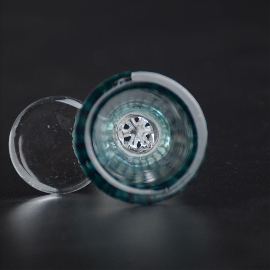 유리제 둥근 조각 손잡이를 가진 유리제 꿀 빗 14.5mm 또는 18.8mm 유리제 bongs를위한 남성 합동 T08