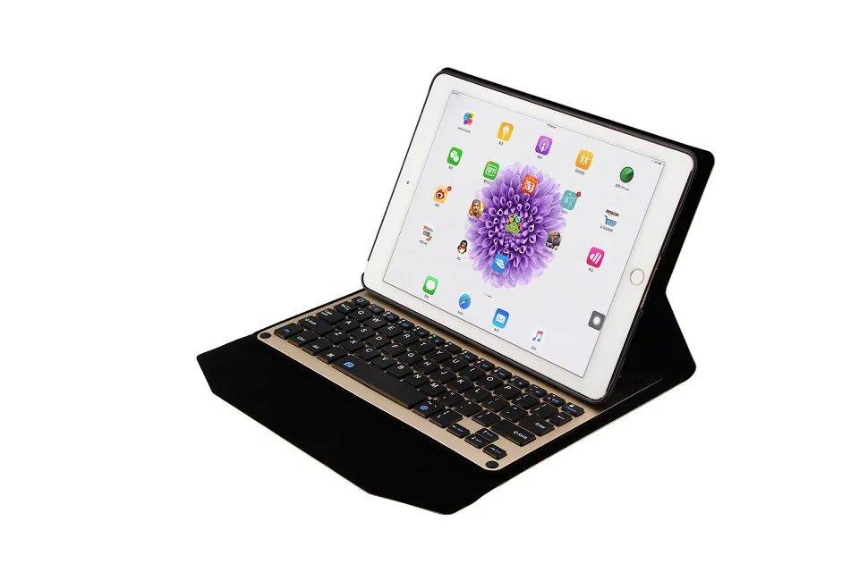 """For ipad pro 9.7 inch Ultra-Slim Aluminum Bluetooth Keyboard + PU Leather plastic stand Case Cover for iPad Pro 9.7"""" Tablet"""