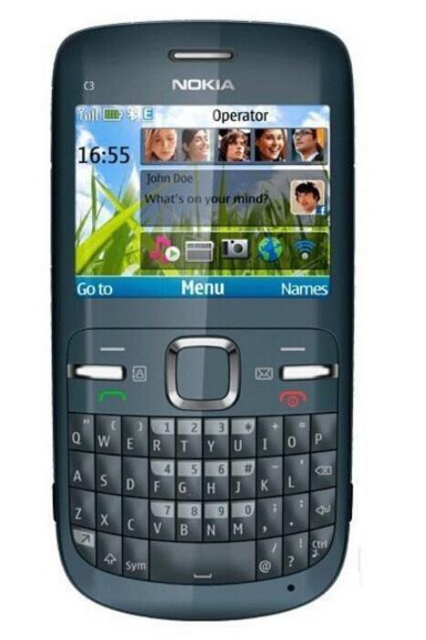 Original Nokia C3-00 Qwerty Keyboard 2MP Camera WIFI 2G GSM900/1800/1900 Refurbished Mobile Phone Unlocked