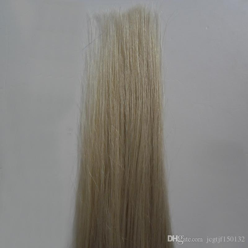 #613 Bleach Blonde Brazilian Virgin Hair tape in extensions Blonde human hair 50g Straight skin weft hair extensions