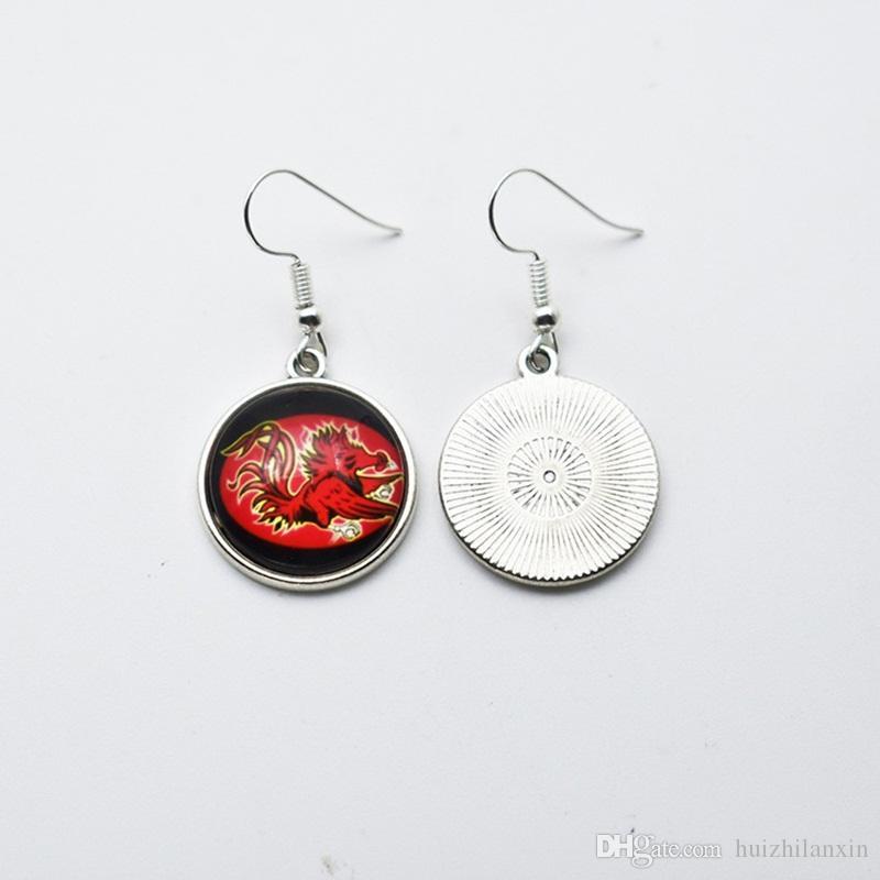 Charm Sports Team NCAA South Carolina Glass 18mm Stud Earrings/Drop Earrings For Women Jewelry Gift