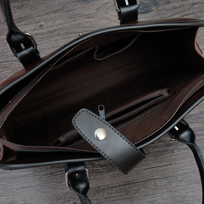 borse famose di marca del progettista borsa di cuoio delle venti del briefcase delle borse del borsello degli uomini di modo borsa casuale degli uomini di viaggio all'aperto degli uomini