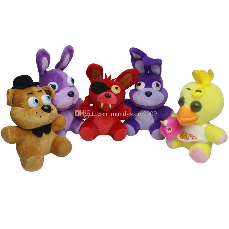 Game Toys 7 Inch Five Nights at Freddy's Plush Bonnie/Foxy/Freddy/Chica Fazbear Fever Plush Toy Stuffed Soft Dolls Animals Toy