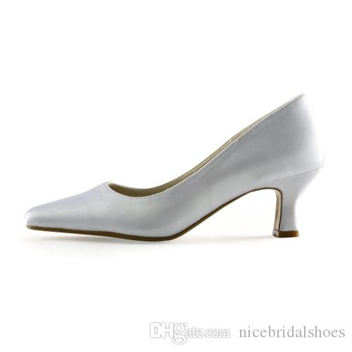 2016 Simple Style Plain Shoe Dyeable Bridal Shoes Wedding Dress Shoes Handmade Shoes for Wedding From Size35-Size 42