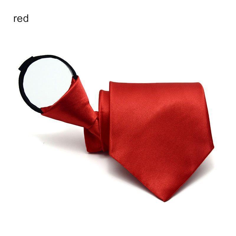 9см молнии галстук мужской бизнес галстук ZIP полиэстер шеи галстук черный красный синий аскот свадьба служба безопасности мужчины 4S магазин 2 шт. / Лот