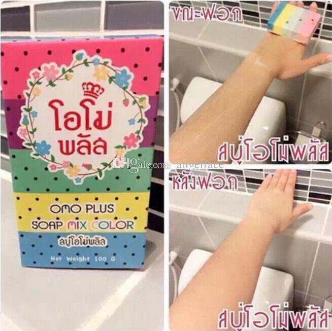 Thailand Original OMO White Plus Seife Früchtenseife Mix Farbe Plus Fünf gebleicht Weiße Haut 100% Gluta Rainbow Soap