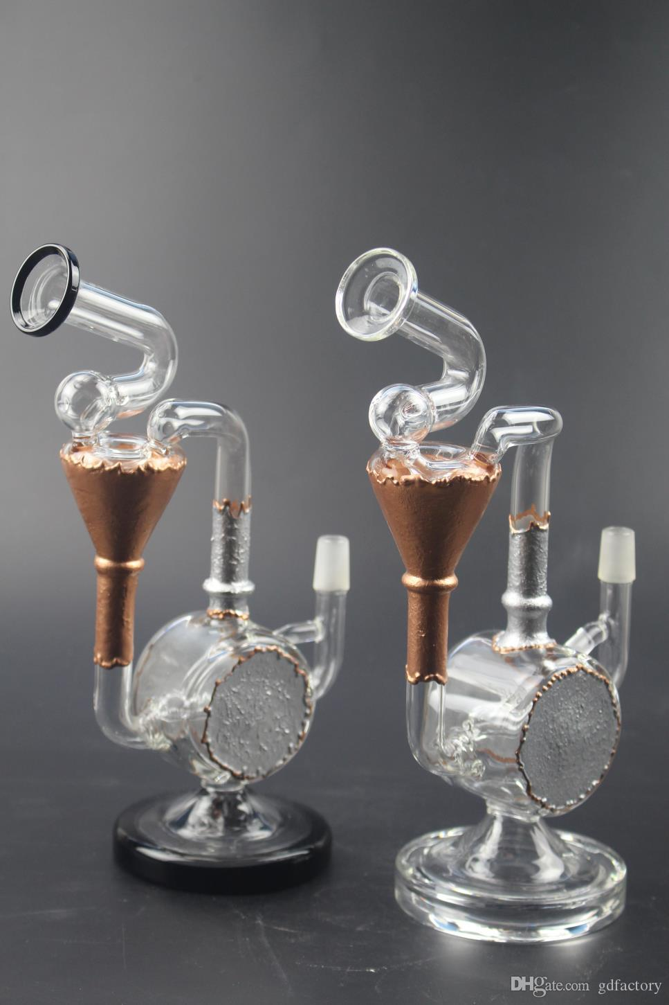 Glass bong glass bubbler water pipes heady oil rigs Water Pipes bongs dab rig with ceramic dome and nail 026