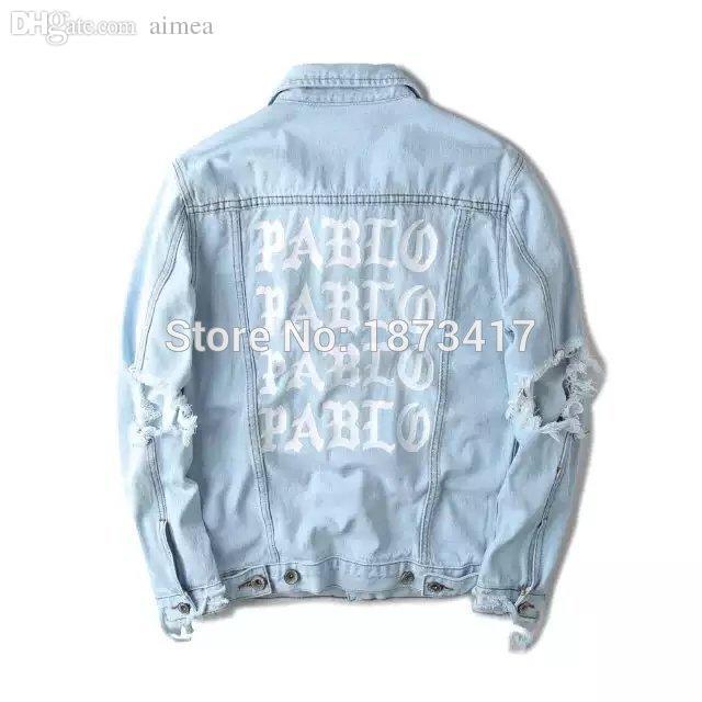 Compre Fall 424 Kanye West Pablo Chaquetas De Mezclilla Hombre Hip Hop  Yeezus Tour Ropa De Marca Streetwear Jeans Chaquetas Me Siento Como Kanye A   69.69 ... 8c16a07f39f