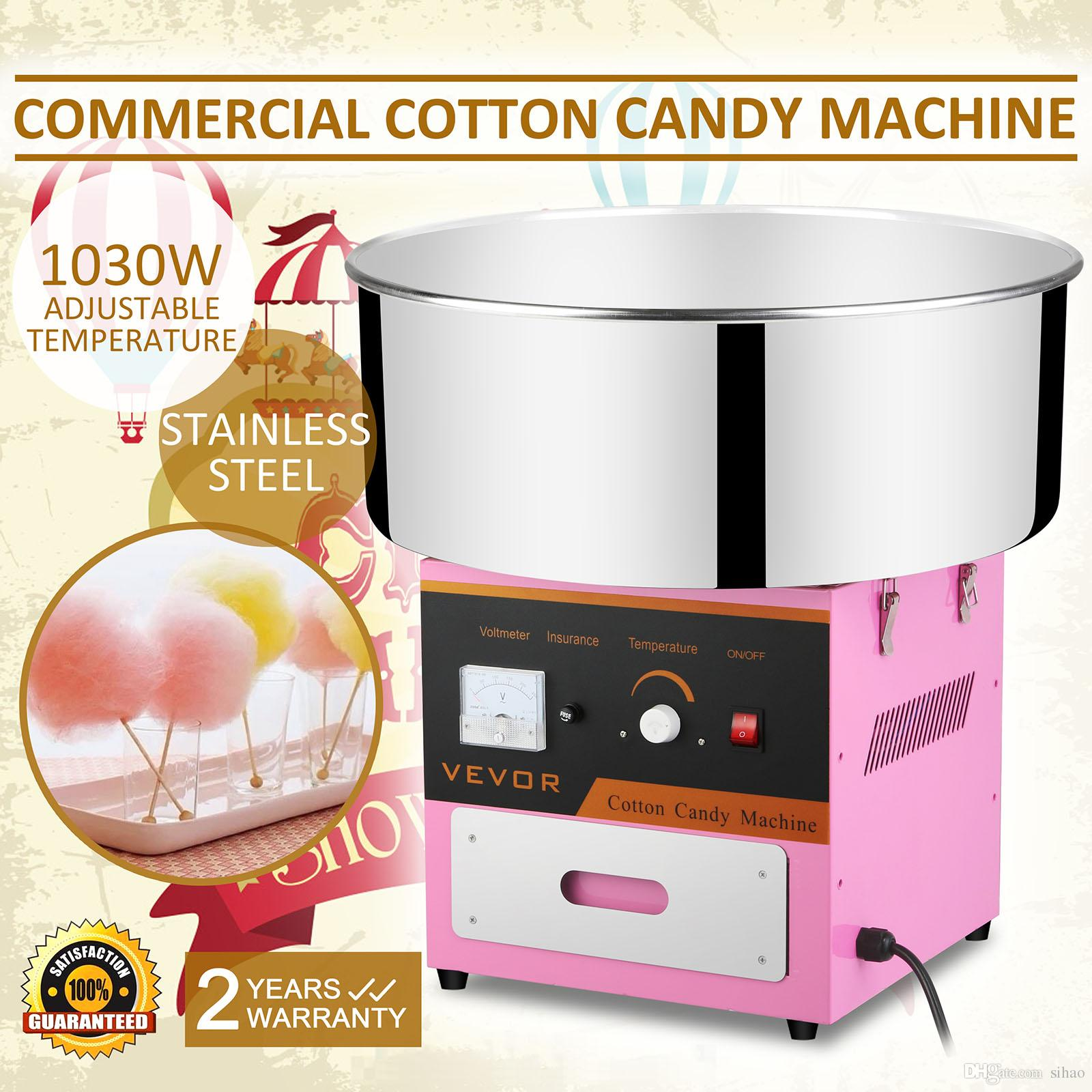 cotton candy machine floss maker brand new commercial electric cotton candy machine floss maker pink 110220v hot sales from sihao 995 dhgatecom - Cotton Candy Machines