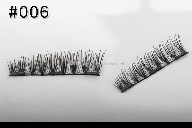 Magnetic False Eyelashes 3D Mink Lashes Reusable three / dual Magnets Eyelashes Extension 3D Eyelash Full Strip Extensions Magnetic Eye Lash