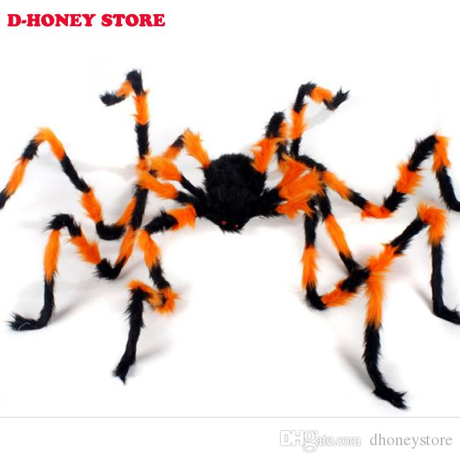30cm black,red spider plush scary animals toy soft doll for party fun / xmas gift novelty items for kids photography props halloween toys