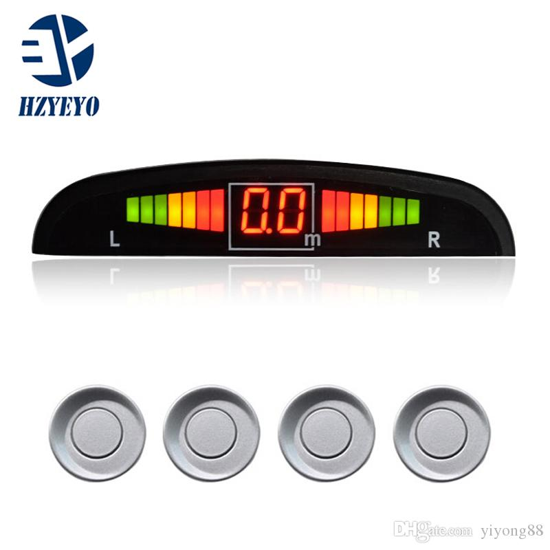4 Sensors System 12V LED Display Indicator Car Parking Sensor System Car  Reverse Radar Kit (Many Color Option) Freeshipping