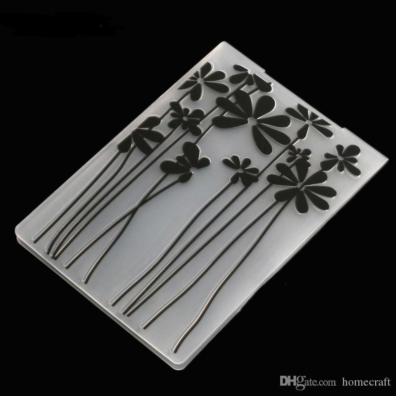 1 Sztuk Plastikowy Embossing Folder Kwiat Zwierząt DIY Scrapbooking Photo Album Card Paper Craft Dekoracji Szablon Mold