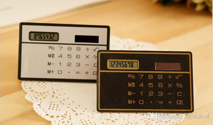 ソーラーカード電卓の小型電卓太陽電池カウンタミニスリムクレジットカード太陽光発電ポケット超薄型計算機