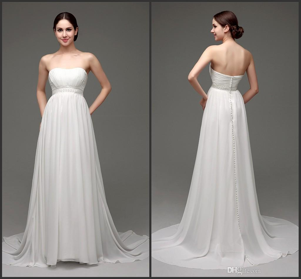 Discount strapless fast shipping wedding dresses 2016 modest discount strapless fast shipping wedding dresses 2016 modest chiffon wedding dress sash beading sexy beach wedding gowns bridal dress pictures of wedding ombrellifo Image collections
