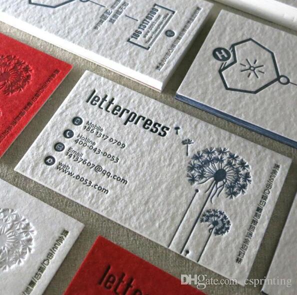 Acheter Chine Fournisseur Pas Cher 600gsm Coton Papier Debossed Letterpress Cartes De Visite 28644 Du Csprinting