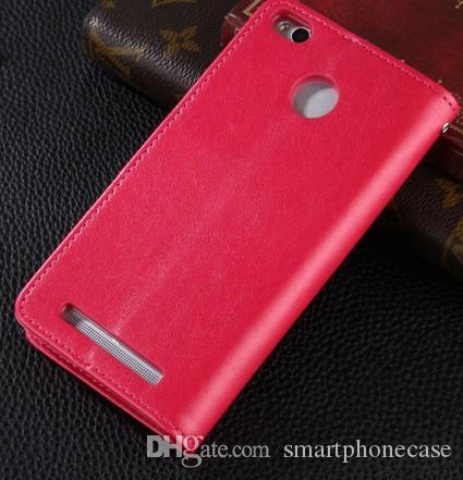 Xiaomi Redmi 3 Pro 케이스 커버에 대한 Cool Xiaomi Hongmi Redrice Redmi 3 / 3S / Redmi 3 Pro 용 럭셔리 컬러 플립 지갑 가죽 케이스