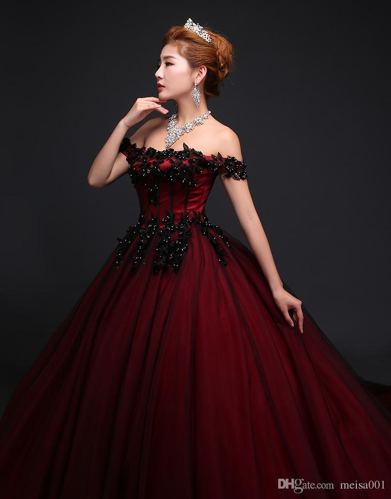 Großhandel 2017 Neue Stil Boutique Damen Rotes Hochzeitskleid ...