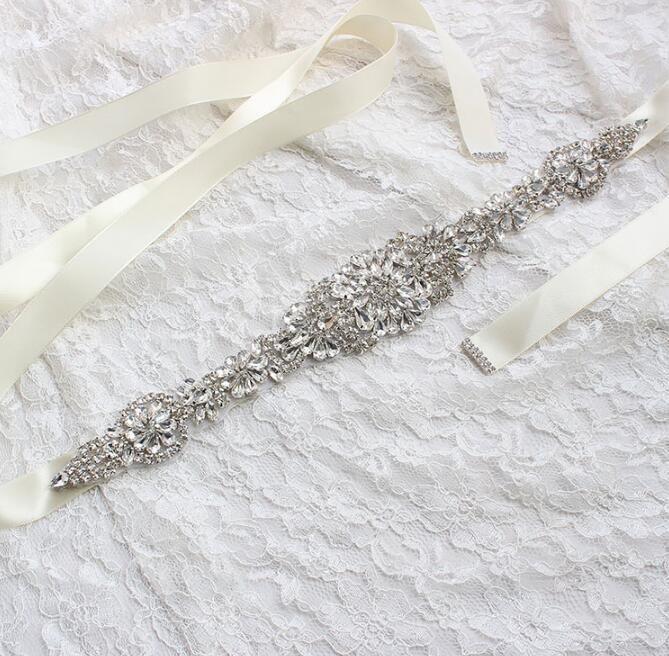 Billig Kleid Gürtel Brautkleider Schärpe Braut Gürtel Strass Kristallband von Abschlussball Abend Prinzessin Handgemachte Weiß Rot Schwarz Erröten