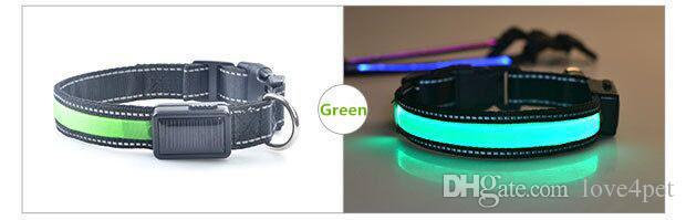 D38 haustier hundehalsband Solar licht emittierende kragen USB ladung hundehalsband qualität KOSTENLOSER versand