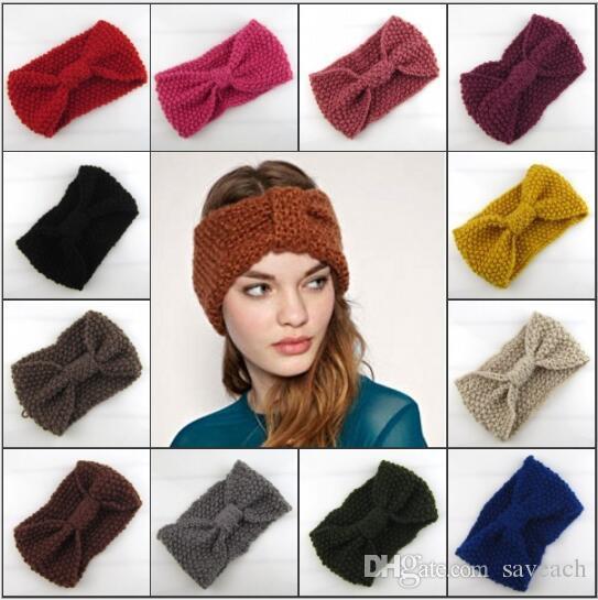 Online Cheap Women\'S Fashion Wool Crochet Headband Knit Hair Band ...